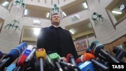 Віктар Януковіч на прэсавай канфэрэнцыі пасьля галасаваньня