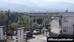 Armenia -- The Bagratashen border crossing with Georgia.