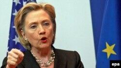 U.S. Secretary of State Hillary Clinton in Brussels