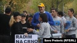 Performans nevladine organizacije MANS o korupciji i kriminalu, Podgorica, decembar 2010. - ilustracija