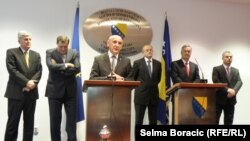 Bh. političari nakon susreta sa Štefanom Fileom, 27. novembar 2012.