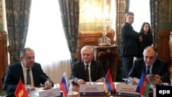 Sergei Lavrov, Eduard Nalbandian və Elmar Məmmədyarov