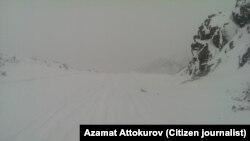 Перевал в Чаткальском районе. Зима,2014. Фото автора