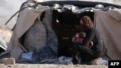 Сириядағы босқындар лагері. Көрнекі сурет.