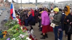 Nemtsov Supporters Gather To Honor His Memory