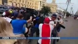 Belarusdaky protestler dowam etdirilýär, polisiýa demonstrantlary saklaýar