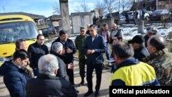 Омбудсмен Армении Арман Татоян в Сюникской области Армении