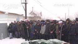 В Астане похоронили пятерых девочек, заживо сгоревших при пожаре в доме-времянке