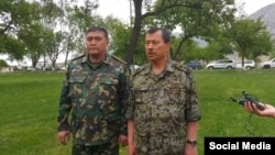 Камчыбек Ташиев менен Саймумин Ятимов. Баткен 01.05.2021