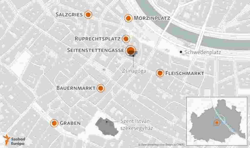 A hétfő esti összehangolt támadás helyszínei.