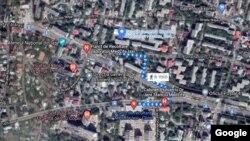 Distanța dintre două centre de vaccinare din Iași