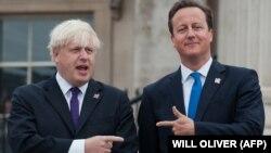 Градоначалникот на Лондон Борис Џонсон и британскиот премиер Дејвид Камерон