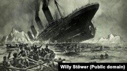 Зображення загибелі «Титаніка», 1912 рік