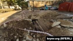 Место аварии в микрорайоне Мате Залки