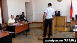 Armenia -- Opposition activist Gevorg Safarian stands trial in Yerevan, 13July2016