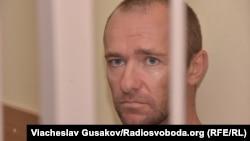 Підозрюваний Микола Новіков у залі суду, Херсон, 6 серпня 2018 року