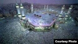 Запретная мечеть в Мекке (Саудовская Аравия) в период хаджа