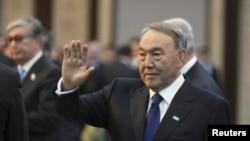 Президент Казахстана Нурсултан Назарбаев. Астана, 30 ноября 2015 года.