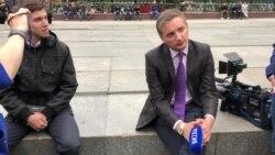 Как напикетах вМоскве встретили журналистов «России»