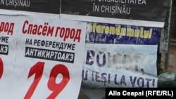 Chișinău, afișe electorale pentru referendum