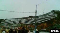 Рухнувшая крыша Басманного рынка - проект Нодара Канчели