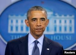 Președintele Barack Obama vorbind la Casa Albă