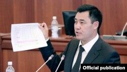 Садыр Жапаров, оппозиционный политик в Кыргызстане.