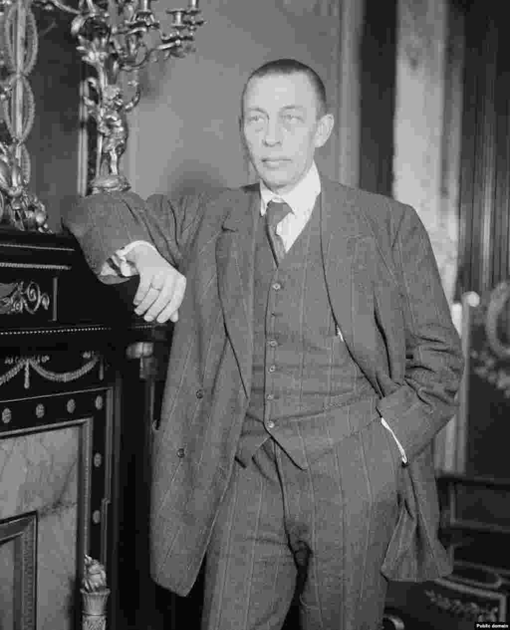 "An undated portrait. After his emigration, Soviet officials labeled Rachmaninoff a ""reactionary"" and ""an enemy of the Soviet government."" His work as a composer dropped off sharply after leaving Russia, although he toured widely as a pianist."