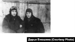 Пилоты колпашевского авиазвена, конец 1940-х гг.