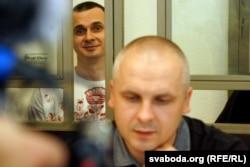 Дмитрий Динзе на судебном заседании по делу Олега Сенцова, 19 августа 2015 года