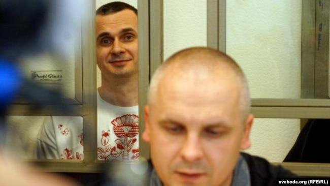 Дмитро Дінзе на судовому засіданні в справі Олега Сенцова, 19 серпня 2015 року