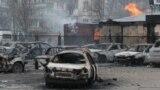 Наслідки обстрілу мікрорайону «Східний» у Маріуполі 24 січня 2015 року, архівне фото