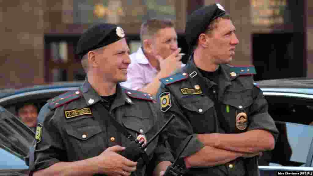 Полицейские не препятствовали проведению акции