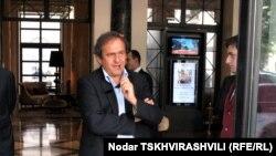 უეფას პრეზიდენტი მიშელ პლატინი თბილისში