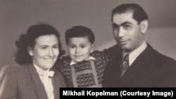 Михаил Копельман с родителями