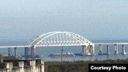 Перекрытый проход под Керченским мостом 25 ноября 2018 года