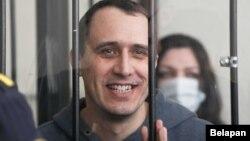 Павал Севярынец падчас суду, 25 траўня 2021 году