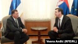 Predsjednik RS Milorad Dodik i premijer Srbije Aleksandar Vučić