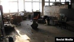Боевики «ЛНР» разгромили научную библиотеку Восточноукраинского университета имени В.И.Даля (фото из соцсетей)