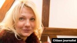 Российская журналистка Екатерина Сажнева, высланная из Узбекистана.