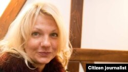 Россиялик журналист Екатерина Сажнева.