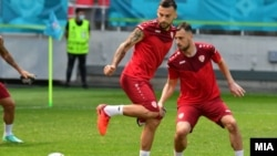 Македонската фудбалска репрезентација на подготовки за ЕУРО 2020