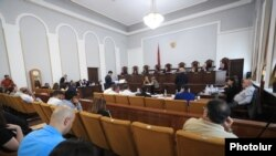 Armenia's Constitutional Court hears the appeals of four opposition groups disputing the outcome of the June 20 snap parliamentary elections