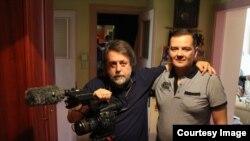 Виталий Манский с братом на съемках фильма «Родные»
