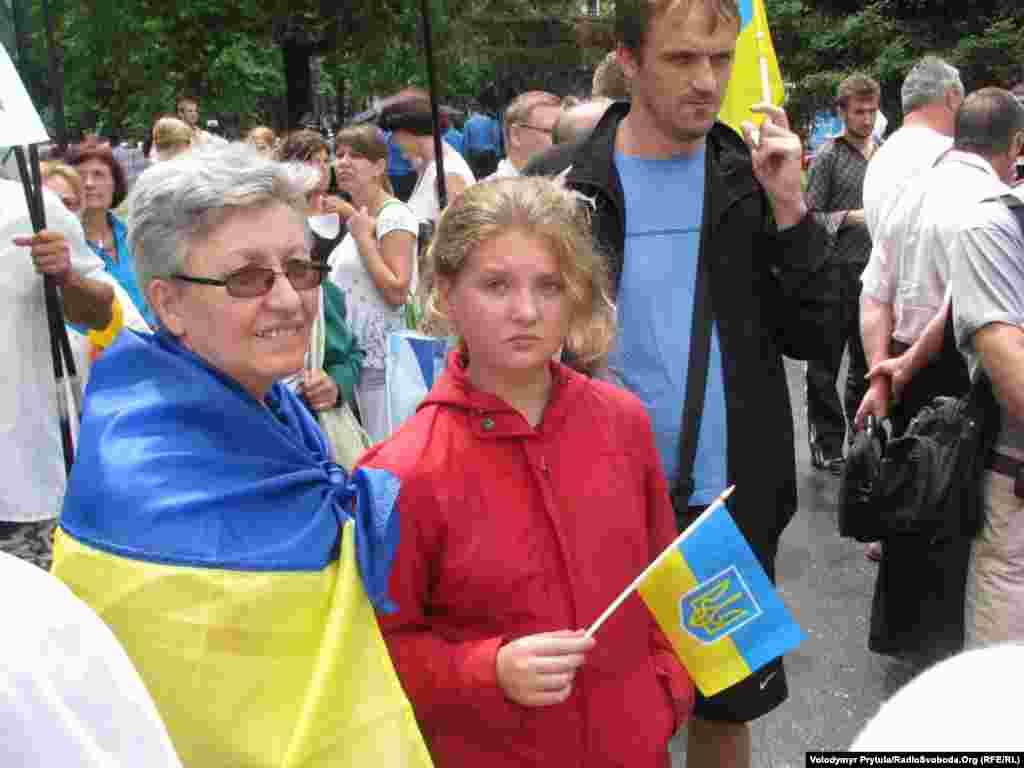 В акції брали участь люди різного віку.