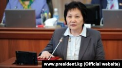 Экс-министр здравоохранения Кыргызстана Динара Сагинбаева.