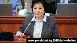 Қырғызстанның бұрынғы денсаулық сақтау министрі Динара Сагинбаева.