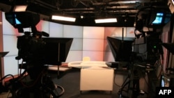 A file photo of a television studio in Simferopol