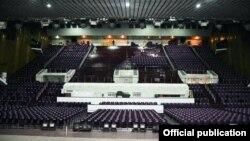 Большой зал Дворца спорта после ремонта.