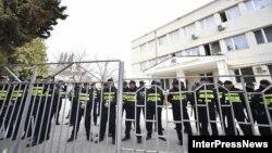 На месте проведения акции возле здания Гурджаанского районного суда были мобилизованы наряды полиции